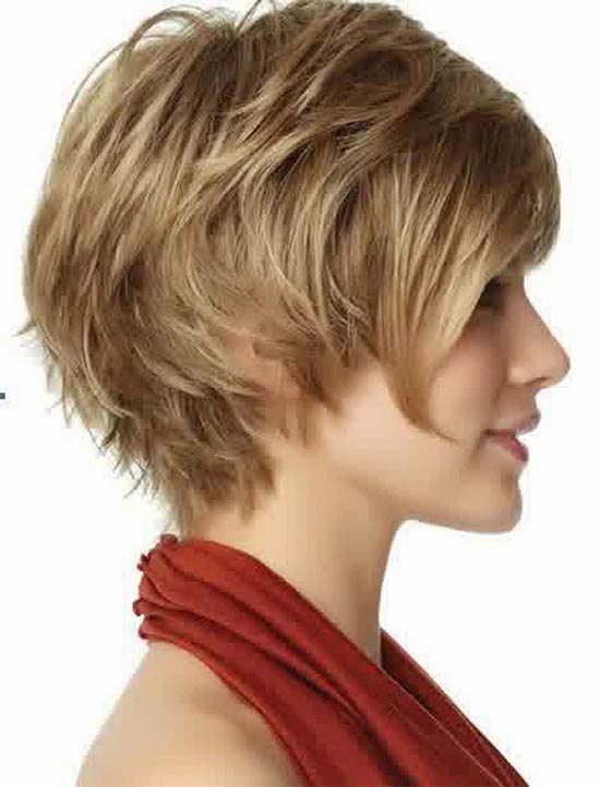 Jenna Elfman short shag hairstyle