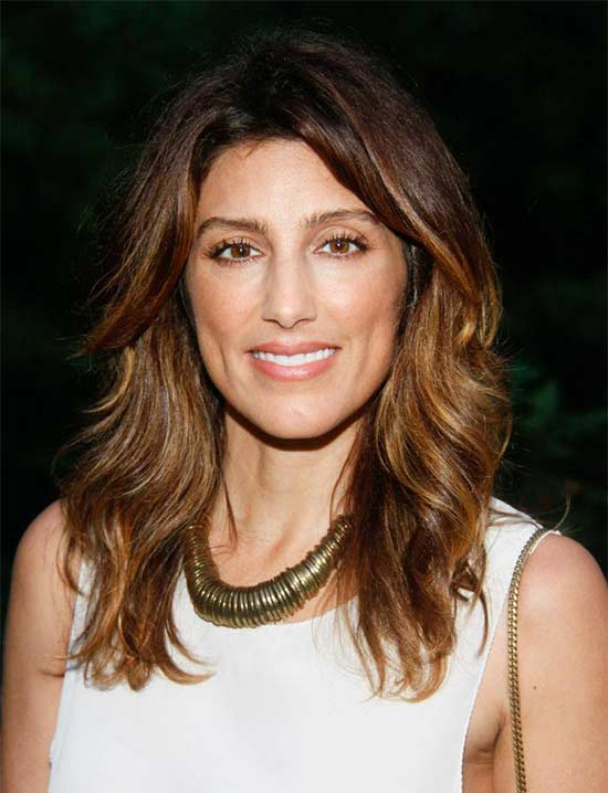 Jennifer Esposito Layered Medium shag hair cuts