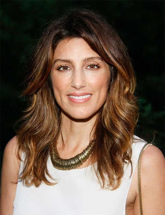Jennifer Esposito Layered Medium shag hair cuts