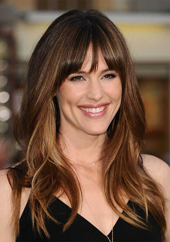 Jennifer Garner Long Shag Hairstyles