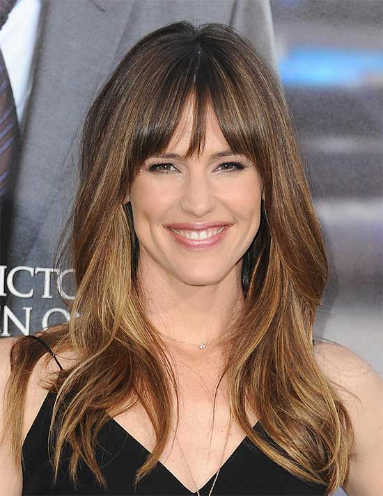 Jennifer Garner bang hairstyles