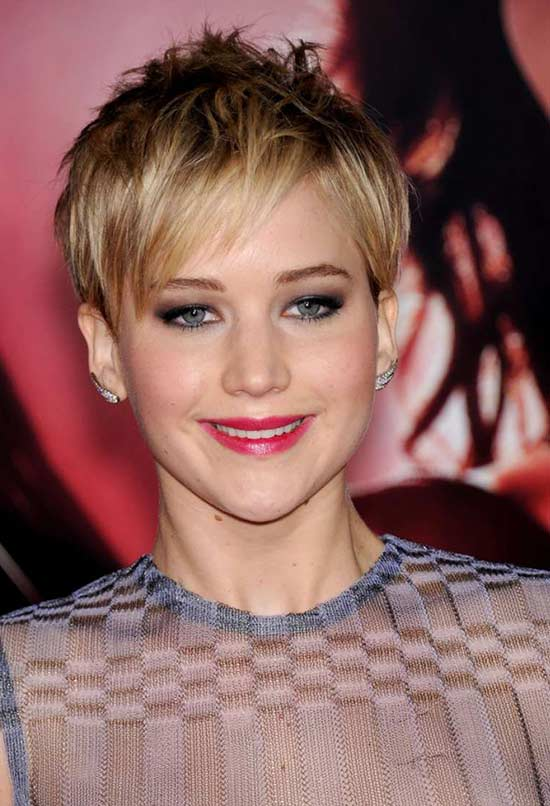 Jennifer Lawrence Fringe Hairstyles
