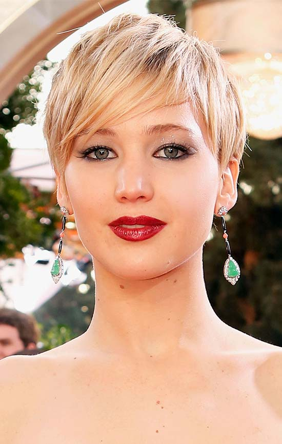 Jennifer-Lawrence Short Blonde Hairstyles