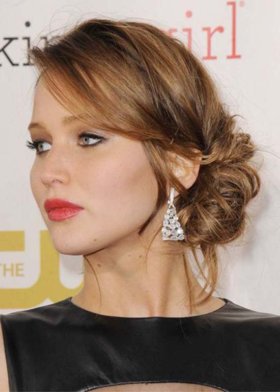 Jennifer-Lawrence Updo for Long Hair
