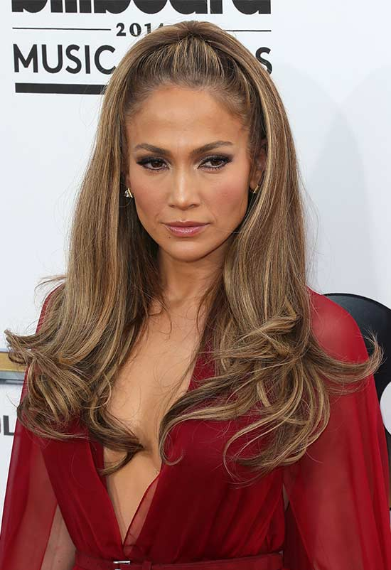 Jennifer Lopez Pretty Half Updo Hairstyles