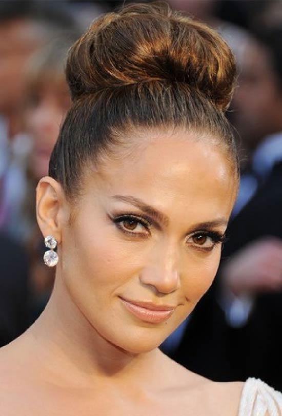 Jennifer Lopez Updo For Thin Hair