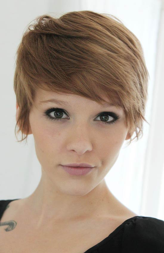 Jennifer lawrence Short Hairstyles with-Bang