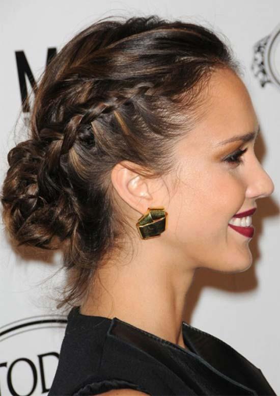 Jessica Alba Braided Hairstyle