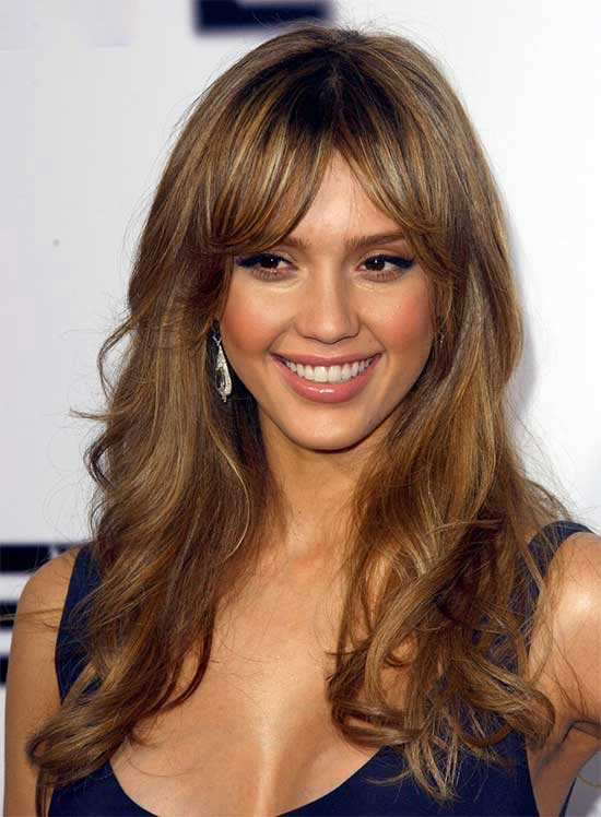 Jessica-Alba-Long-Hair-styles-With-Bangs