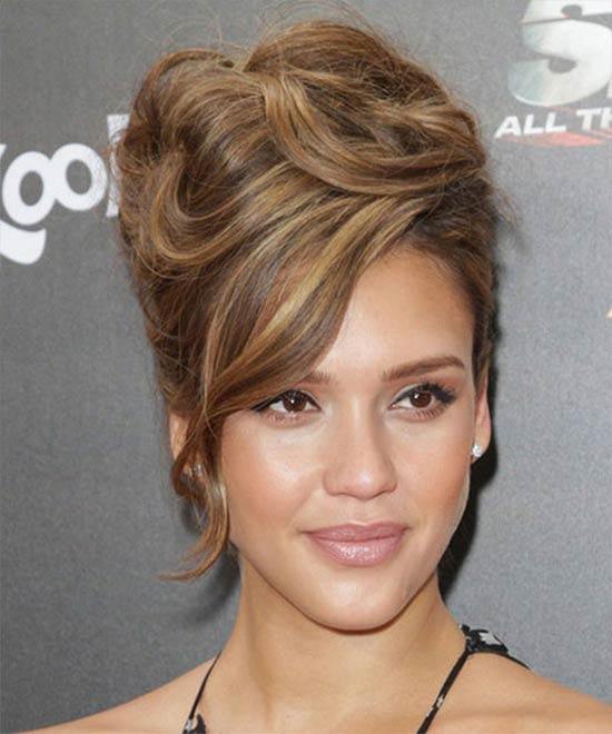 Jessica Alba Updo For Thin Hair