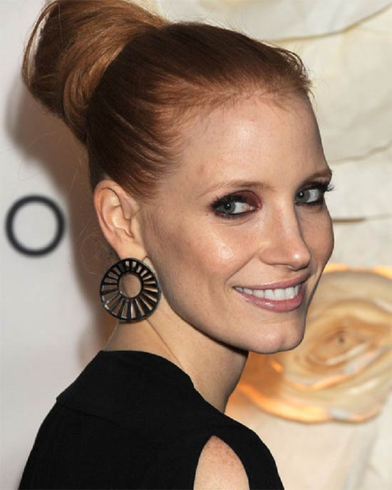 Jessica Chastain Prom updo Hairstyle