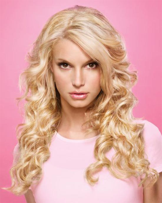 Jessica Simpson Curly Hair with Bangs