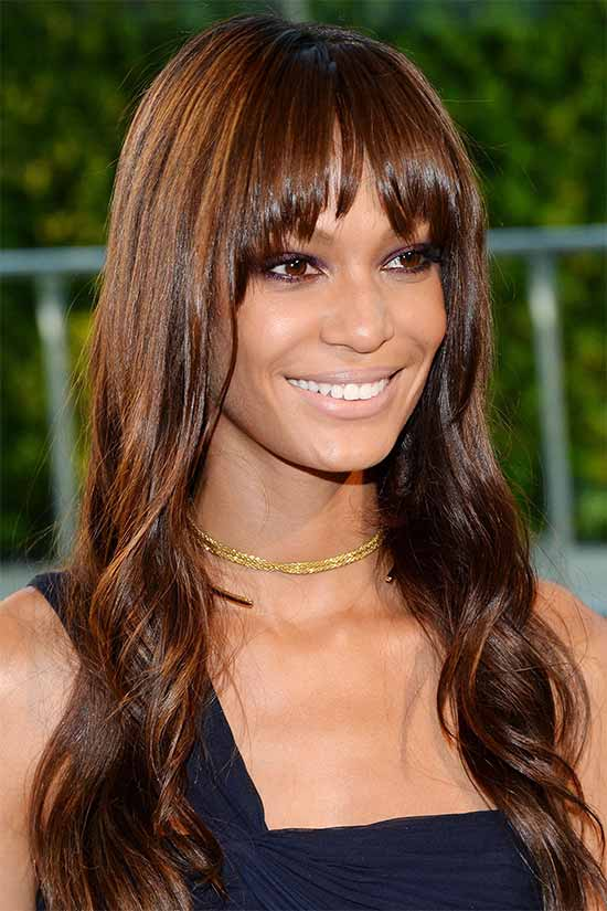 Joan Smalls Brown hair styles
