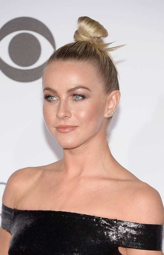 Julianne Hough Top Knot hair style