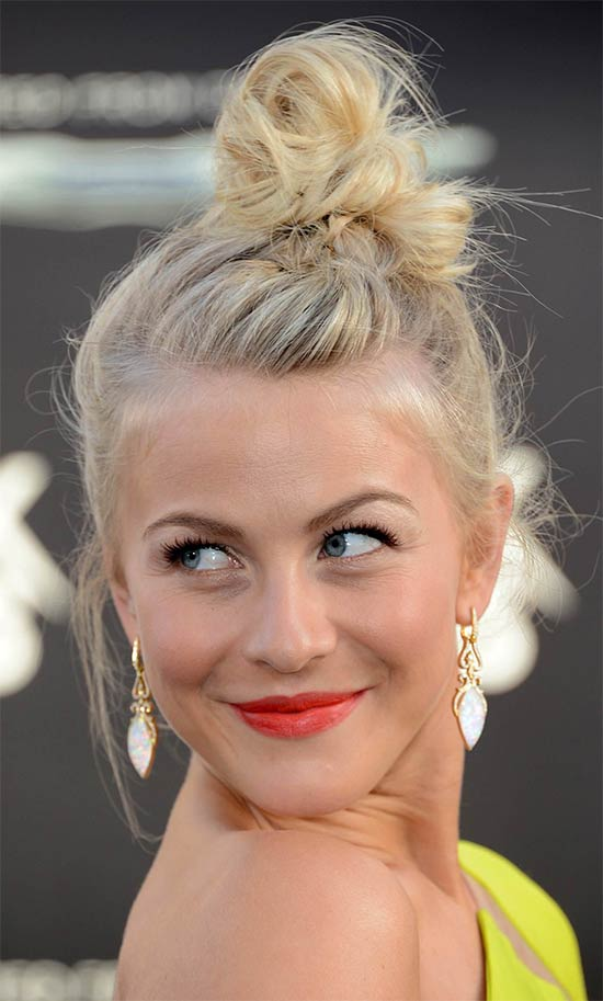 Julianne Hough Updo For Thin Hair