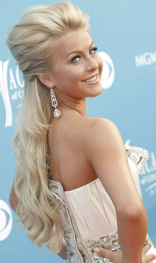 Julianne Hough half Updo