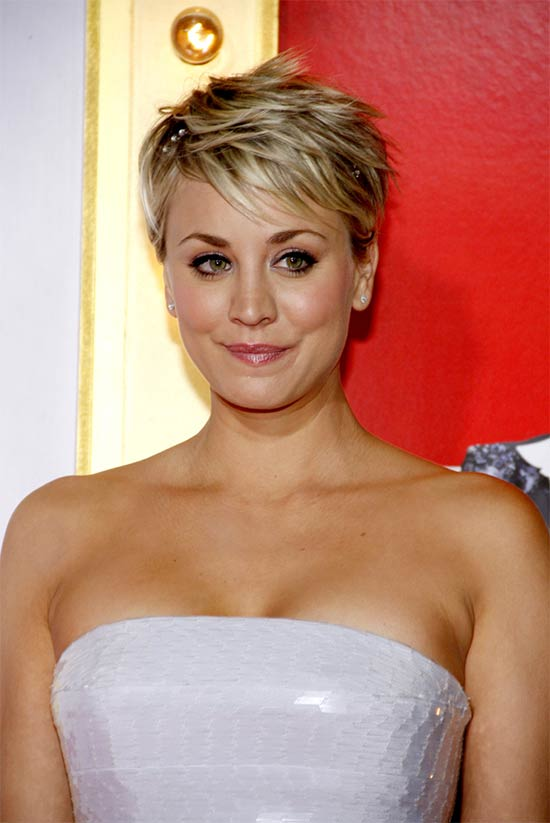 Kaley Cuoco Pixie Haircuts For Thick Hair