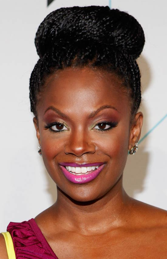 Kandi Burruss UPDO hair styles for Black Women