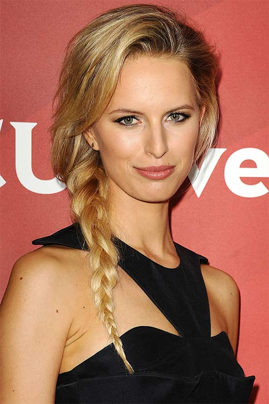 Karolina Kurkova Fishtail Braid
