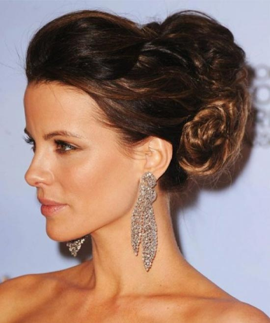 Kate Beckinsale Updo for Long Hair