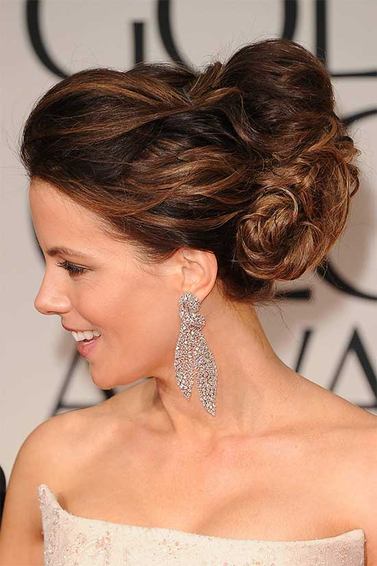 Kate Beckinsale messy Updo for long hair