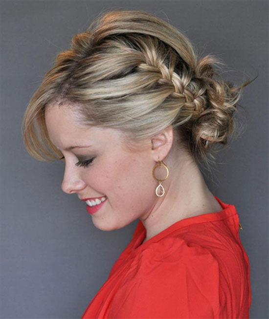 Kate Bryan French Braid Updo Wedding