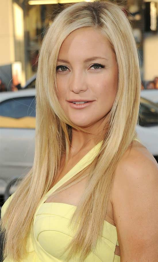 Kate Hudson long thin hair style