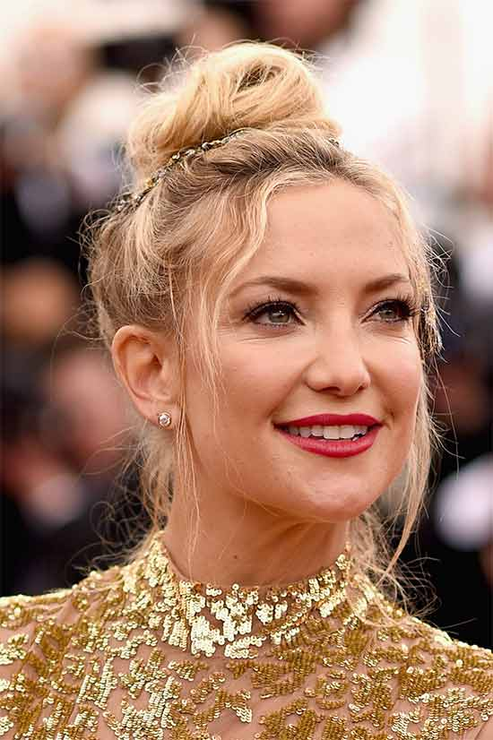Kate Hudson messy Updo for long hair