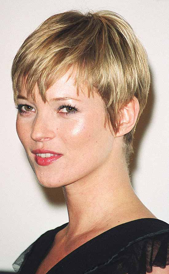 Kate Moss Short Blonde Hairstyles