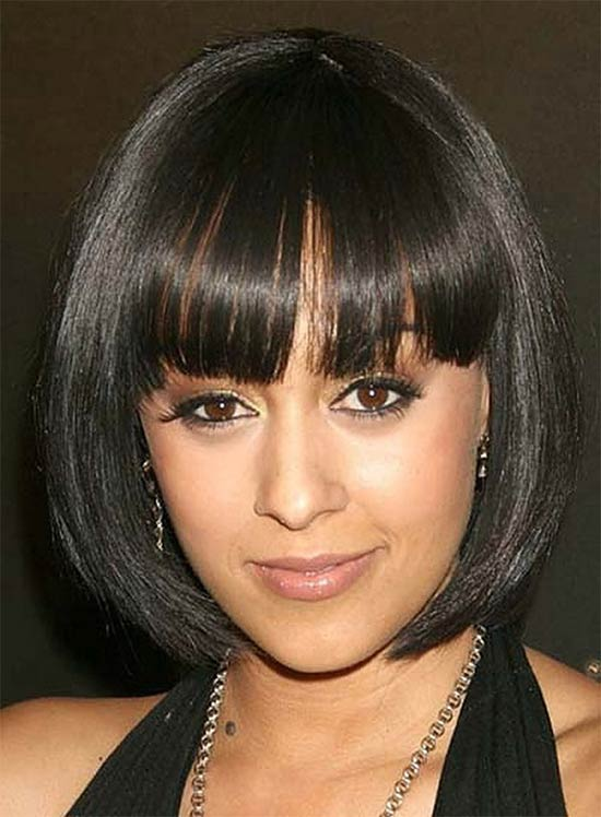 Katerina Graham Hairstyles with Bangs for Black hair