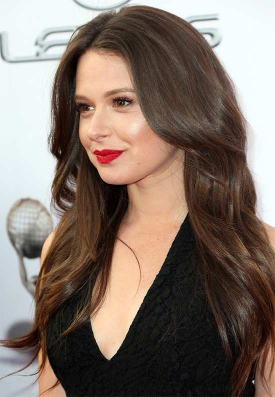 Katie Lowes Long layerd Hair styles With bangs