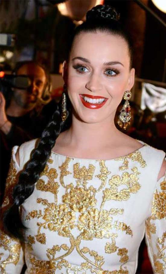 Katy Perry Braided Hairstyle