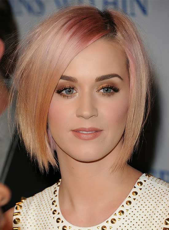 Katy-Perry Short Blonde Hairstyles