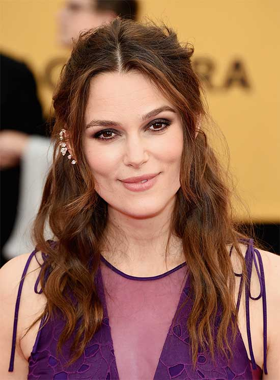 Keira Knightley long hair with bangs