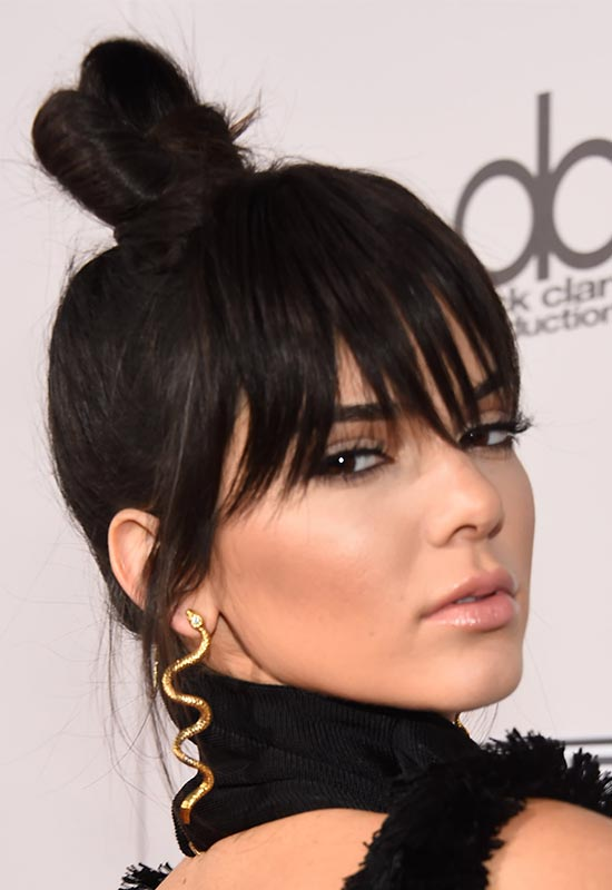 Kendall Jenner Top Knot Hairstyles