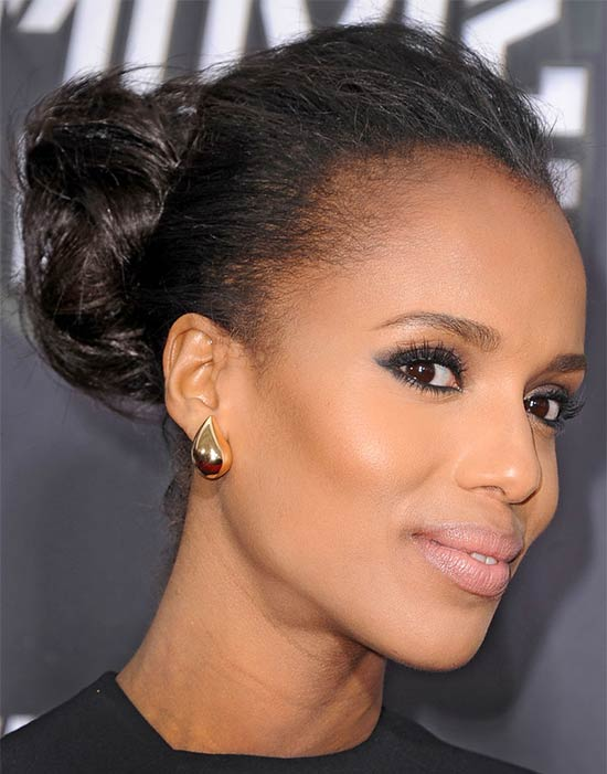 Kerry Washington Updos for Medium Length Hair