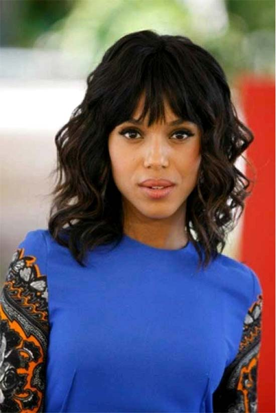 Kerry washington Black Hairstyles With Bangs