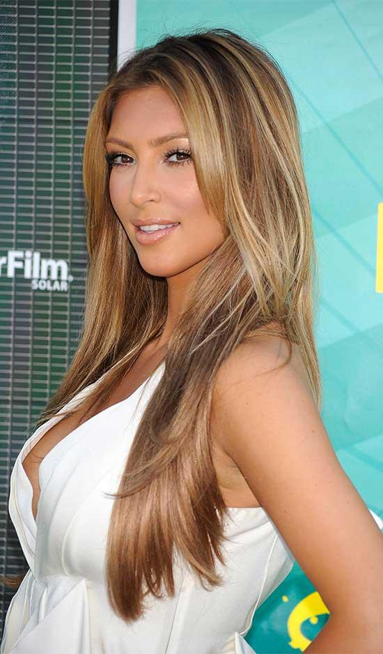 Kim Kardashian Blonde Hairstyle