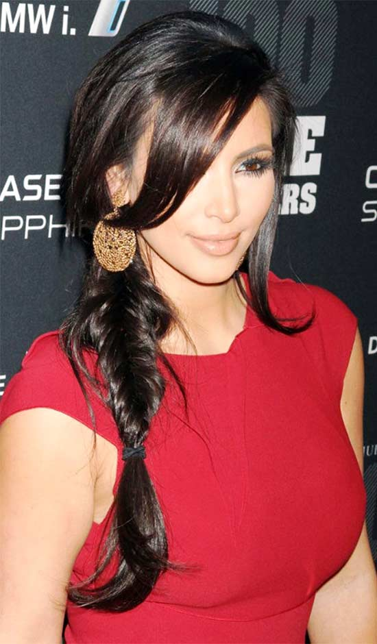 Kim Kardashian Braided Hairstyle