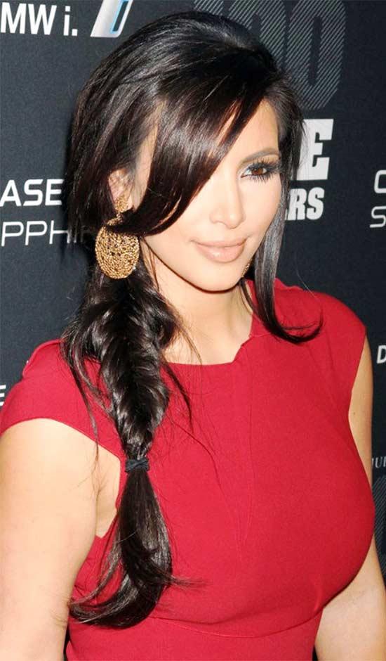 Kim Kardashian Braided Hairstyle
