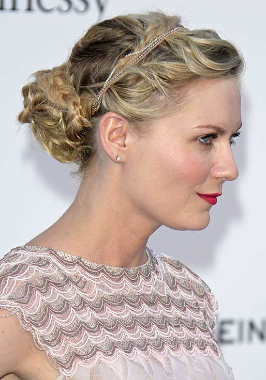 Kristen Dust Braided Updo