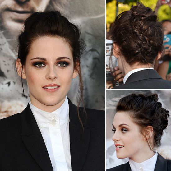 Kristen Stewart Updos for Medium Length Hair