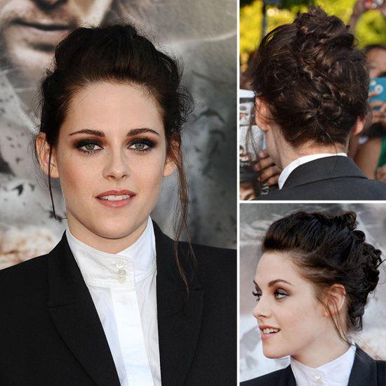 Kristen Stewart Updos for Medium Length Hair