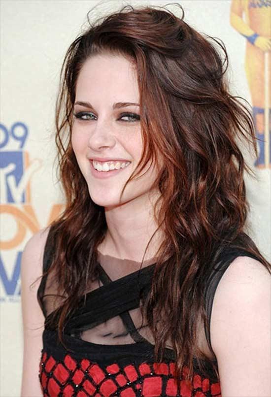 Kristen Stewart long shang hair style
