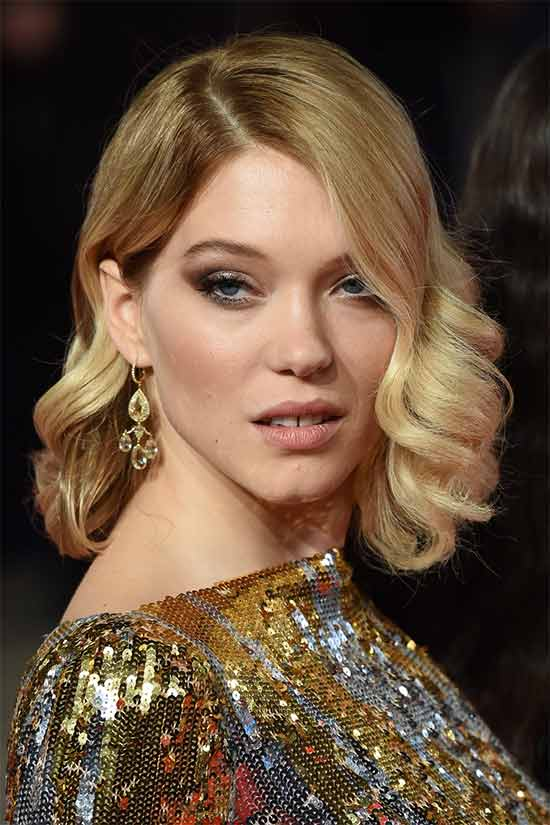 Léa Seydoux Wedding Hairstyle