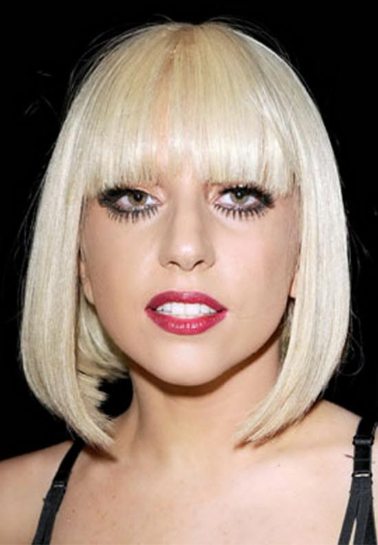 Lady-Gaga Short Blonde Hairstyles