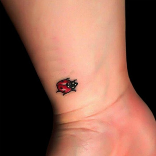 Ladybug Tattoo On Wrist