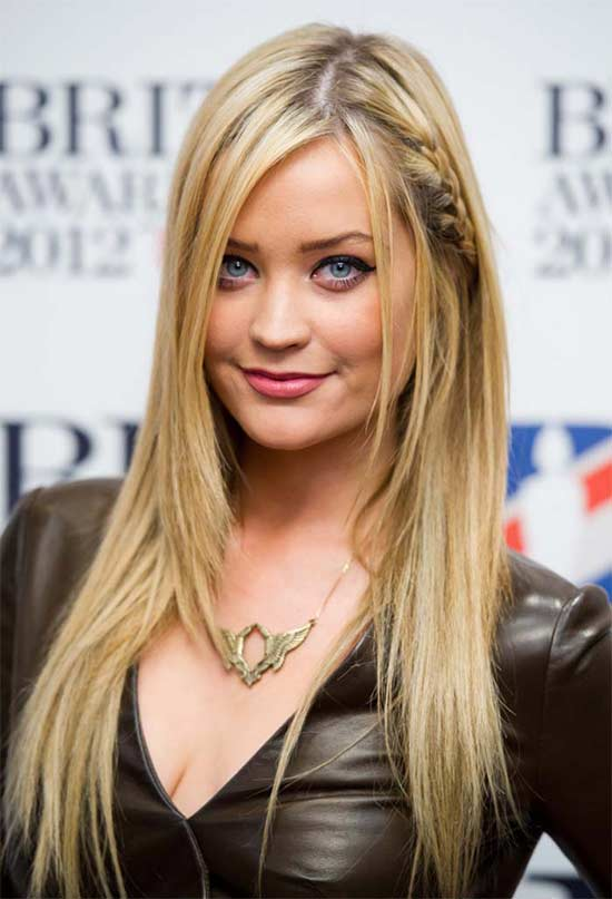 Laura Whitmore long thin hair style