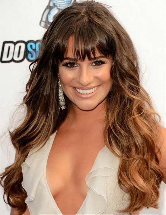 Lea Michele Fringe Hairstyles