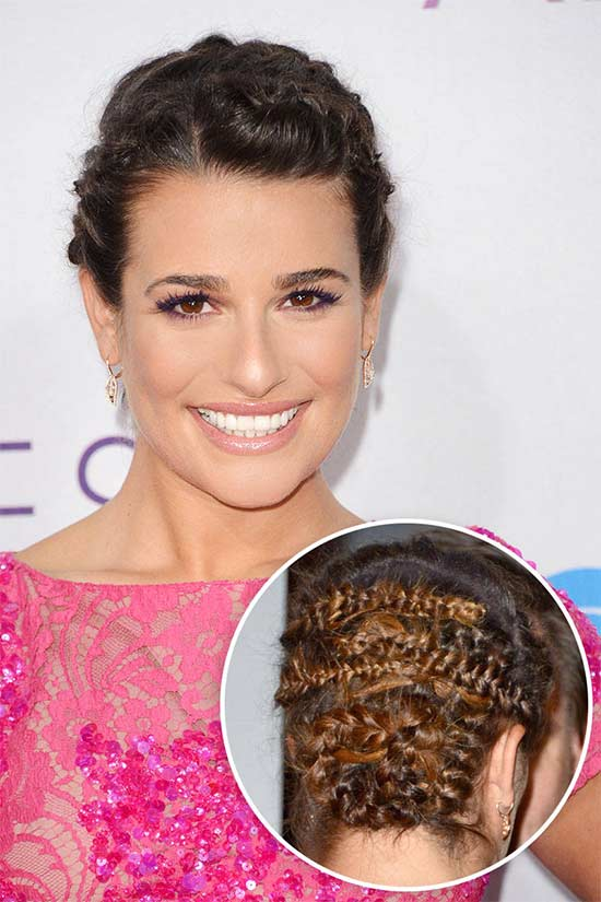 Lea Michele Wedding Hairstyles For Medium Hair